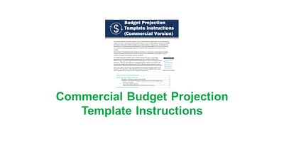 Budget Projection Template