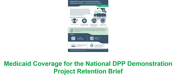 Medicaid Coverage for the National DPP Demonstration Project Retention Brief