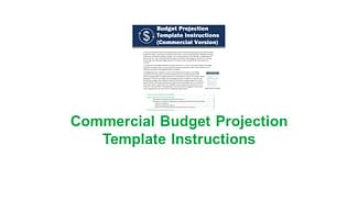 Commercial Budget Projection Template
